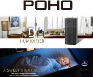 image of a portable humidifying unit from POHO
