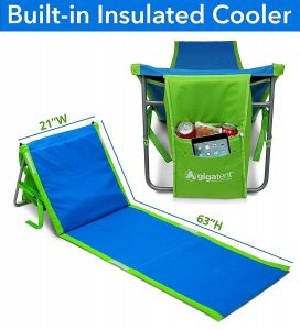 image of a portable beach lounge chair from gigatent