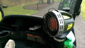 image of a mr heater golf cart heater