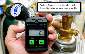 image of a portable carbon monoxide detector